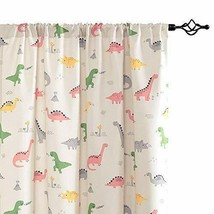 """Vangao Printed Curtains for Kids Girls Youth Room 52""""W x 72""""L, Dinosaur
