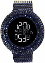 KING MASTER 65.00ct Lab Made Diamond Watch Aqua Master Fully Iced Out Mens - $395.99