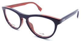 Fendi Rx Eyeglasses Frames FF 0123 MFW 51-17-140 Blue / Brick Made in Italy - $117.60