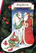 Dimension Santa Gifts for All Horse Apples Cross Stitch Stocking Kit 7959 8573 - $162.95