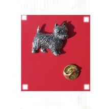english pewter westie dog Design pin badge, lapel badge in gift box