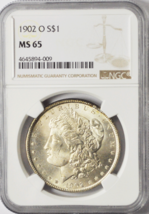 1902 O $1 Morgan Silver Dollar New Orleans NGC MS65 Brilliant Uncirculated - $174.23