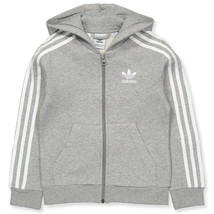 Adidas Youth Originals Full Zip Hoodie Medium Grey Heather-White DH2702 - $24.95