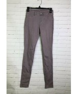 Uniqlo Women's XS 24-25 Gray Pull On Jeggings Stretch Denim Jeans Pants ... - $28.70