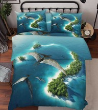 3D Fly Dinosaurs Bed Pillowcases Quilt Duvet Cover Set Single Queen King Size AU - $90.04+