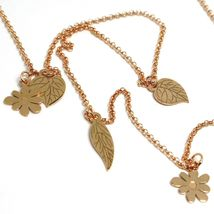 Double Necklace Silver 925, 100 cm, Girl Swing, Flowers Leaves, le Favole image 4