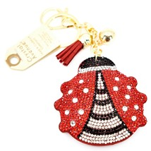 Pave Crystal Accent 3D Stuffed Pillow Ladybug Keychain Key Chain image 1