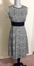 MICHAEL KORS Black & White Chic 100% Silk Graffiti Dress (Size -10 ) NWT... - $55.17