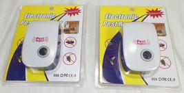 PAIR OF NEW ELECTRONIC ULTRASONIC PEST REPELLERS 22-65Hz   -A4 - $9.99