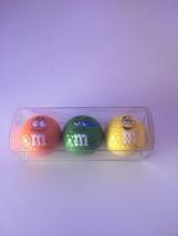 M&M's World Golf Ball Set of 3 Orange, Green, Yellow New - $17.45