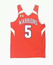 New Under Armour Warriors Reversible Basketball Jersey #5 Youth M White ... - $18.01