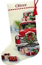 Dimensions Santas Truck Farm House Christmas Cross Stitch Stocking Kit 0... - $39.95