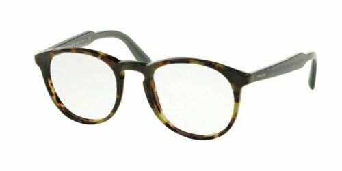 Prada Eyeglasses Optical PR19SV LAB-1O1 Green Havana 48mm w/Case