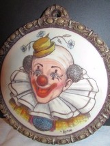 Artini Hand Painted Twin Etched Sculptured Engraving 4D Wall Decor Clown... - $69.29