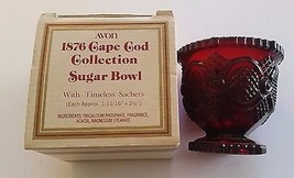 Sugar Bowl AVON CAPE COD 1876 COLLECTION Glass Original Box Vintage - $40.00