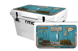 "RTIC Wrap ""Fits Old Mold"" 65qt Cooler 24mil Lid Kit Gone Fishing - $36.95"