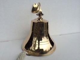 """6"""" Brass US Navy Ship Bell W/ woven tassel ~ Nautical Maritime Decor - $68.29"""