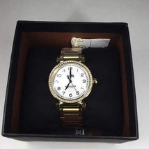 Coach Lady's Watch Gold 14502397 Madison White Dial Stainless Steel New ... - $100.00