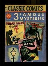 CLASSIC COMICS 21-3 FAMOUS MYSTERIES-SHERLOCK HOLMES VG - $226.98