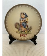"M.J. Hummel Goebel Annual Plate 1987 ""Feeding Time"" Hum 283 in Bas Relief - $20.00"