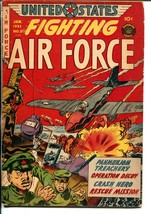 United States Fighting Air Force #3 1953-Superior-violent Korean War sto... - $69.36