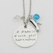 "A Dream Ist Wish Your Heart "" Macht Charms Kette 18 "" Cinderella Disney - $9.87"