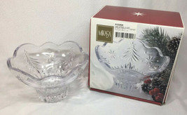 "Celebrations by MIkasa Christmas Night Collection 6"" Footed Crystal Bowl... - $12.89"
