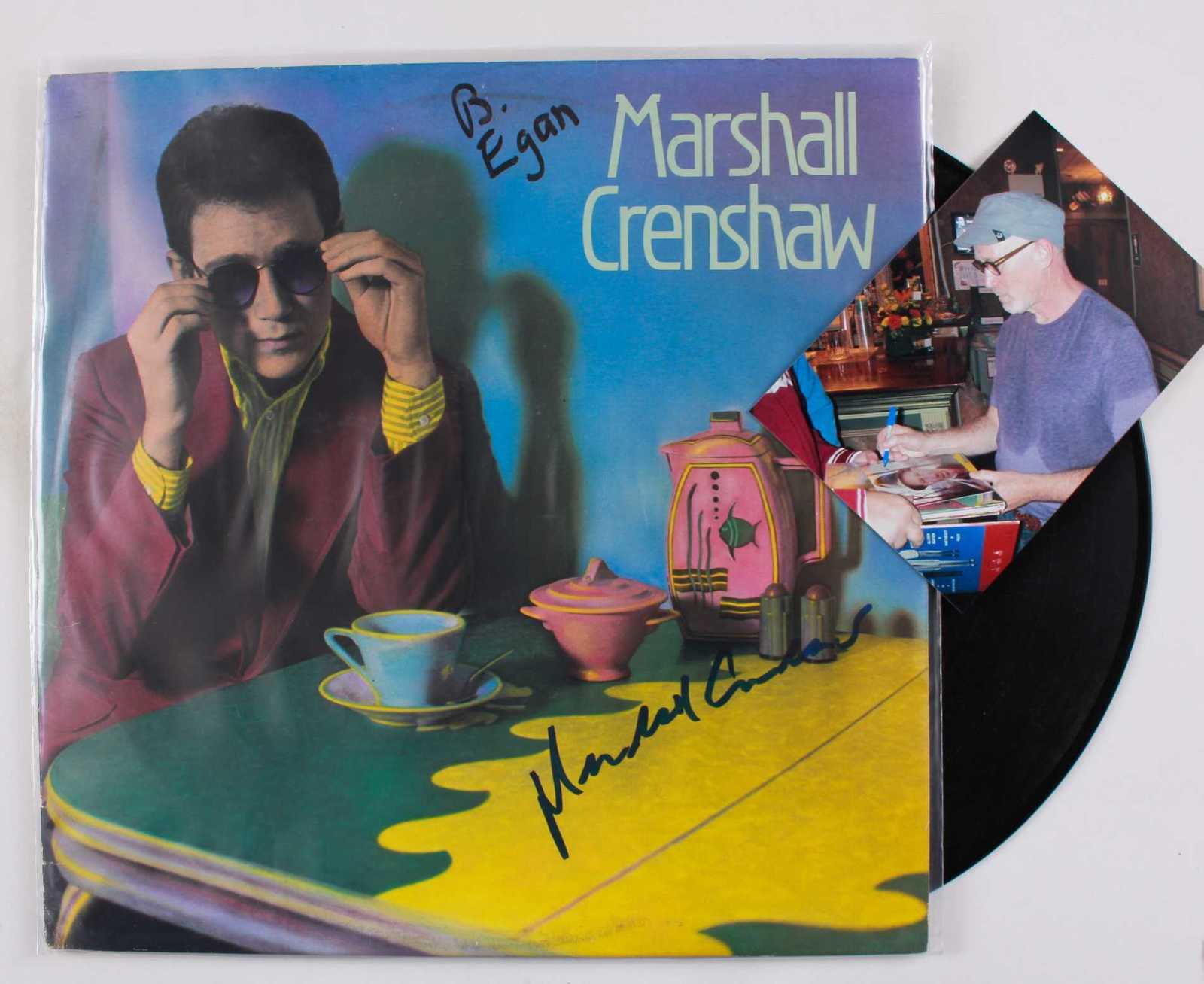 Primary image for Marshall Crenshaw Signed Autographed Record Album w/ Proof Photo