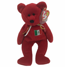 Vintage TY Beanie Baby OSITO Mexico Red Bear 1999 - $9.16
