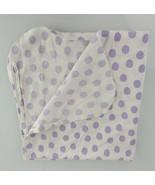 Gerber Baby Girl Receiving Cotton Flannel Blanket White Purple Polka dot... - $29.69