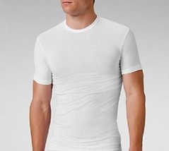 CALVIN KLEIN MENS 100% COTTON T-SHIRT UNDERSHIRT White CREW NECK Classic... - $11.95