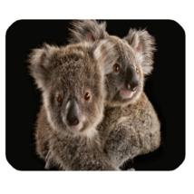 Mouse Pad Australian Koala Cute Funny Nature Animal Design In Black Animation - $9.00