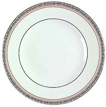 "Wedgwood Verona Dinner Plate 10.75"" Platinum Trim Made in England New - $18.99"