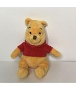 "Disney Winnie The Pooh Beanie Plush Stuffed Animal 6"" Sitting - $14.74"