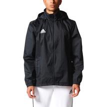 Adidas Kids Boy Rain Jacket Waterproof Core 15 Hoodie Training Running M... - $42.95