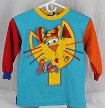 Vintage zoodles girl's sweater long shirt multicolor 1997 size 5-6 - $13.01