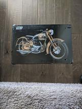"18.5"" BSA 650 Motorcycle biker 3d cutout retro USA STEEL plate display ad Sign - $73.50"
