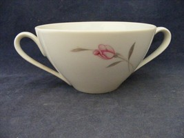 Crest Wood American Beauty Open Sugar Bowl Pink Rose Platinum Trim - $4.95
