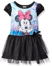 Disney Girls' Minnie Wonderland Penne Dress, Black, Size 5 - $21.77