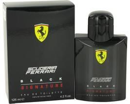 Ferrari Scuderia Black Signature Cologne 4.2 Oz Eau De Toilette Spray image 1