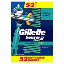 1 GILLETTE SENSOR 2 Plus Disposable Razors (52 ct.) - $47.47