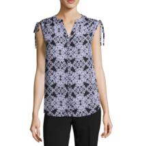 Worthington Short Sleeve V Neck Woven Blouse Petite Size PM, PL, PXL New  - $14.99