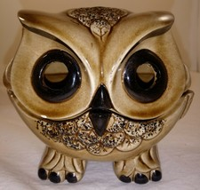 Vintage Ceramic Two Piece Owl Tea Light Candle Holder Figurine - $19.79
