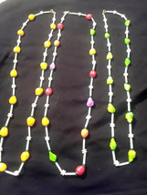 Vintage New Old Stock Signed Hong Kong Fruit Salad  Plastic Necklaces Se... - $75.00