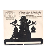 Classic Motifs Frosty Snowman 8 Inch Charcoal Split Bottom Craft Holder - $16.96