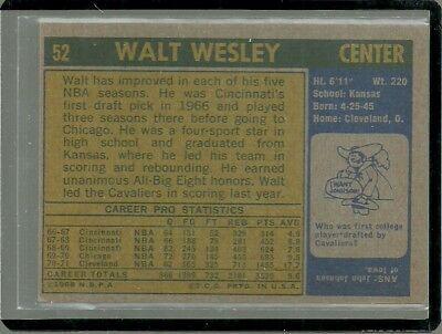 1971-72 TOPPS SET BREAK #52 WALT WESLEY CAVALIERS EX-MT FREE SHIPPING