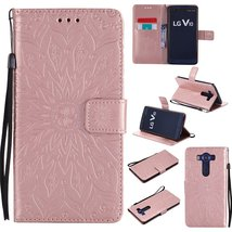LG V10 Case,LG H900 Case,XYX [Rose Gold Sunflower][Wrist Strap][Kickstan... - $3.95