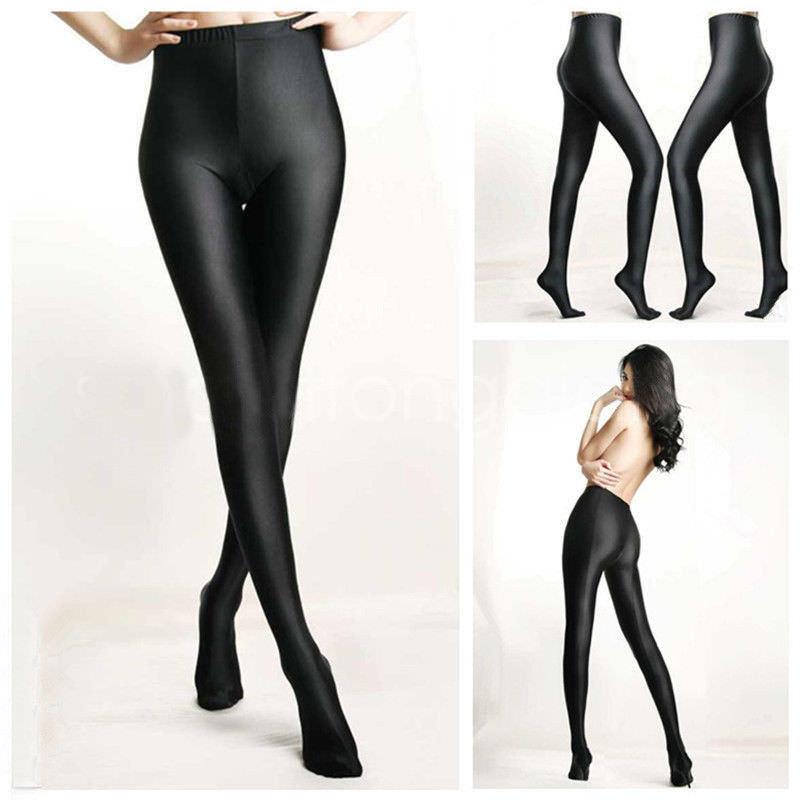 Ultra-thin 1D Shiny High Gloss Pantyhose Crotch//Crotchless Tights Body Stockings