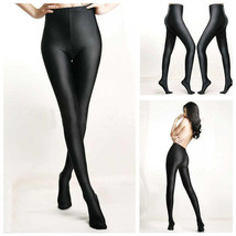 Women Sexy Shiny Glossy Spandex Stockings Opaque Pantyhose Sports Fitness Tights - $7.43