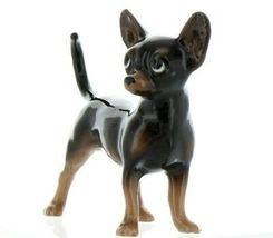 Hagen Renaker Pedigree Dog Chihuahua Large Black and Tan Ceramic Figurine image 5